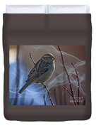 Sparrow In A Weave Duvet Cover