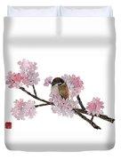 Sparrow Art  Duvet Cover