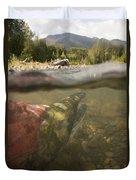 Spawned Out Sockeye Salmon In Quartz Duvet Cover