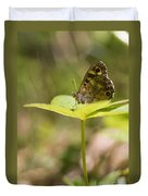 Speckled Wood Butterfly Duvet Cover