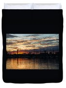 Spectacular Sky - Toronto Beaches Marina Duvet Cover