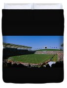 Spectators Watching A Soccer Match, Usa Duvet Cover