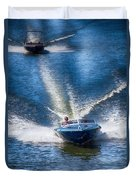 Speed On The Water Duvet Cover