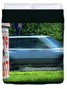 Speeding Gas Prices Duvet Cover