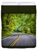 Speeding Through The Forest E42 Duvet Cover