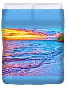 Spencer Beach Sunset Duvet Cover