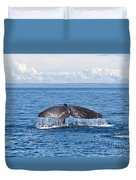 Sperm Whale Tail  Physeter Catodon Duvet Cover