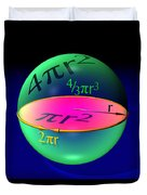 Sphere Equations Maths Poster Black Duvet Cover
