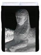 Sphinx Statue Three Quarter Profile Bw Glow Usa Duvet Cover
