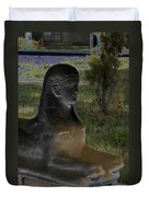 Sphinx Statue Three Quarter Profile Solar Usa Duvet Cover