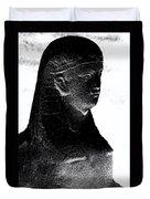 Sphinx Statue Torso Black And White Usa Duvet Cover
