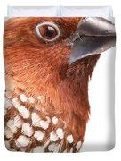 Spice Finch Lonchura Punctulata Portrait Duvet Cover