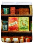 Spices On Shelf Duvet Cover by Susan Savad