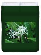 Spider Flower In Sint Maarten Duvet Cover