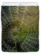 Spider In Web 3 Duvet Cover