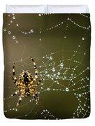 Spider In Web 5 Duvet Cover