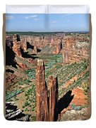 Spider Rock Canyon De Chelly Duvet Cover by Christine Till