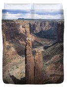 Spider Rock, Canyon De Chelly Duvet Cover