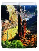 Spider Rock Canyon Dechelly  Duvet Cover