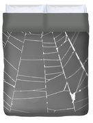 Spiderweb Bw Duvet Cover