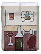 Essence Of Home - Spilt Glass Of Wine Duvet Cover