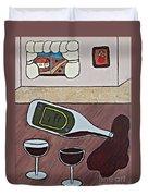 Essence Of Home - Spilt Wine Bottle Duvet Cover