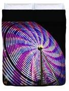 Spinning Disk Duvet Cover by Joan Carroll