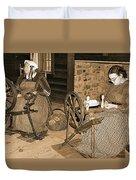 Spinning Wheel Duvet Cover
