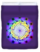 Spiral Light Hexagon Duvet Cover