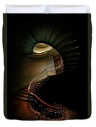 Spiral Staircase In Green And Red Duvet Cover