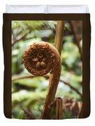 Spiral Tree Fern Duvet Cover