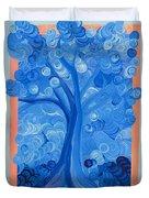 Spiral Tree Winter Blue Duvet Cover