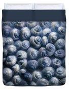 Spirals Blue Duvet Cover