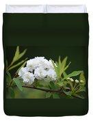 Spirea Blossom Duvet Cover