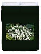 Spirea Expressive Brushstrokes Duvet Cover