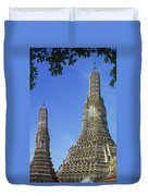 Spires Of The Temple Of Dawn Duvet Cover