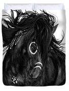Spirit Feathers Horse Duvet Cover