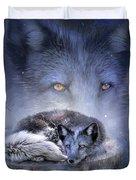 Spirit Of The Blue Fox Duvet Cover