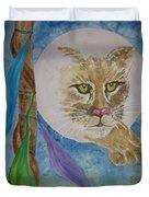 Spirit Of The Mountain Lion Duvet Cover