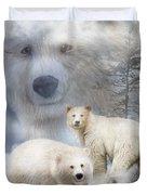 Spirit Of The White Bears Duvet Cover