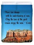 Spiritual Laws Duvet Cover