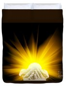 Spiritual Light In Cupped Hands Duvet Cover