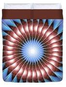 Spiritual Pulsar Kaleidoscope Duvet Cover by Derek Gedney