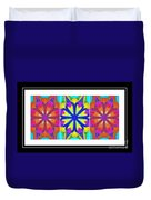 Spirituality - Life Lights - Kaleidoscope - Triptych Duvet Cover