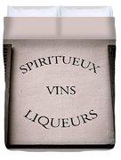 Spiritueux Vins Liqueurs Duvet Cover
