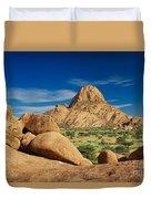 Spitzkoppe Mountain Landscape Of Granite Rocks Namibia Duvet Cover