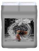 Hair Flip Splash Duvet Cover
