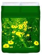 Splash Of Yellow Duvet Cover