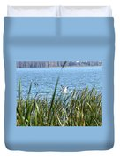 Splashing In The Lake Duvet Cover