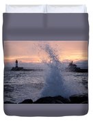 Splashy Sunrise Duvet Cover